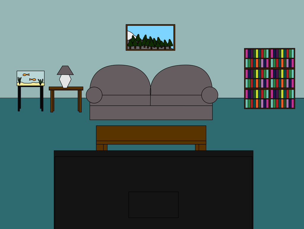 Cartoon 39 living room front 39 scene by mjb1225 on deviantart for Cartoon picture of a living room