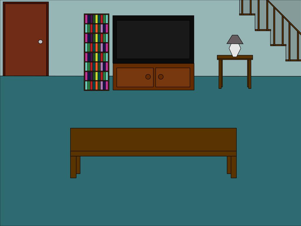 Cartoon Room: Cartoon 'Living Room Back' Scene By Mjb1225 On DeviantArt