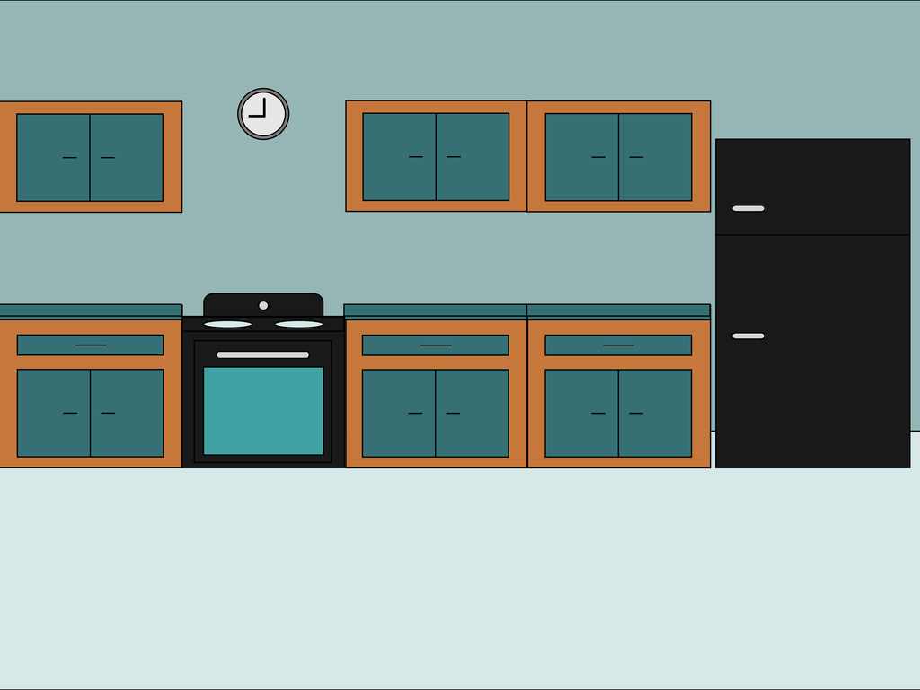 Cartoon \'Kitchen\' Scene by mjb1225 on DeviantArt