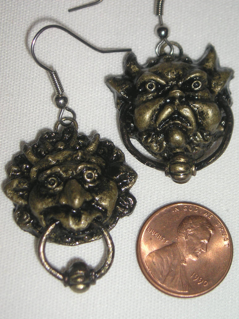 Labyrinth Door Knocker Earrings By Animegeer On Deviantart