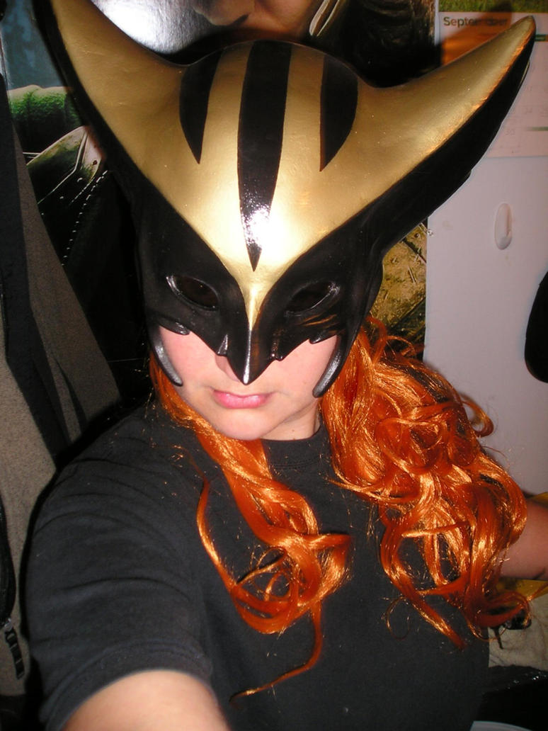 Hawkgirl Helmet plus wig test by AnimeGeer