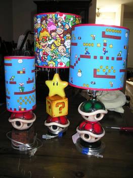 Ceramic Mario Theme lamps