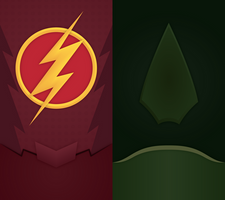CW DC Universe Phone Background by UrLogicFails