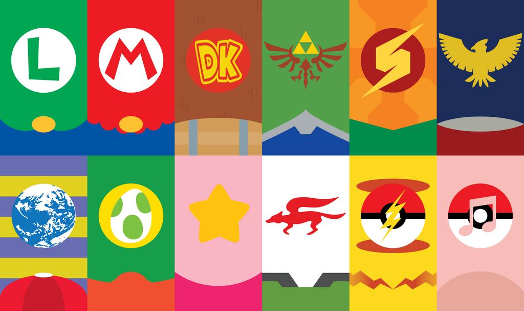 Super Smash Bros. Phone Background by UrLogicFails