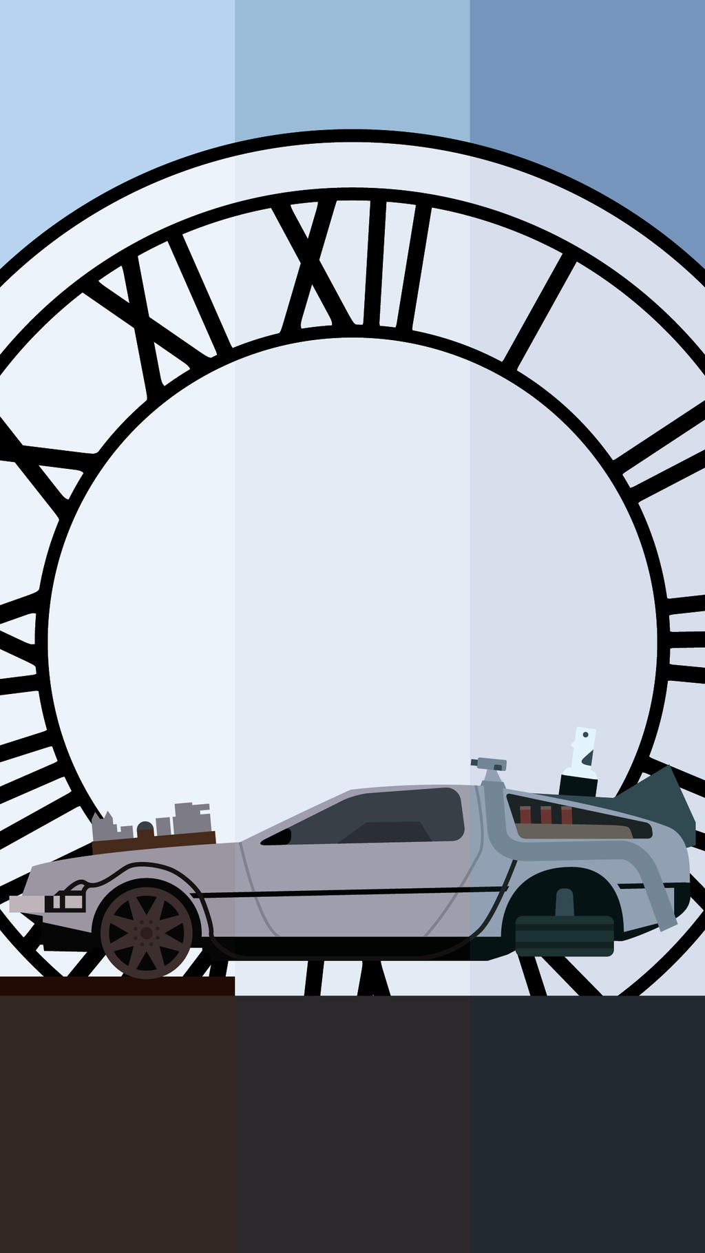 Back to the Future Phone Background by UrLogicFails