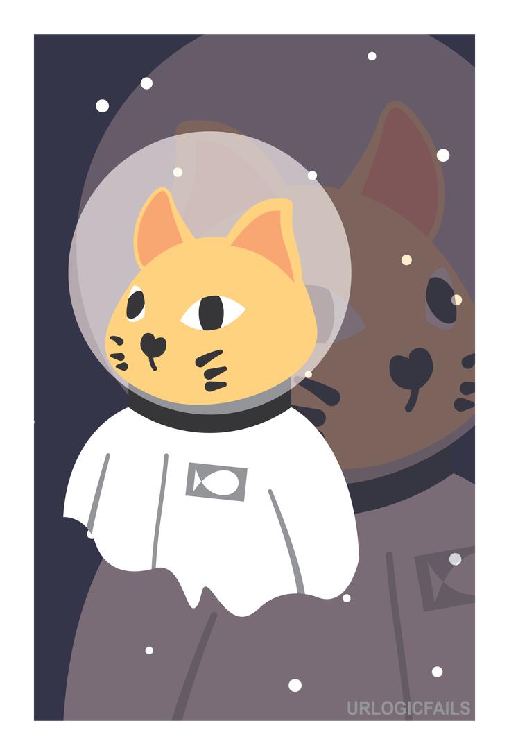 2 Space 2 Cat by UrLogicFails
