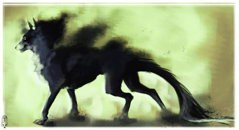 Black Wolf by ZiokoH