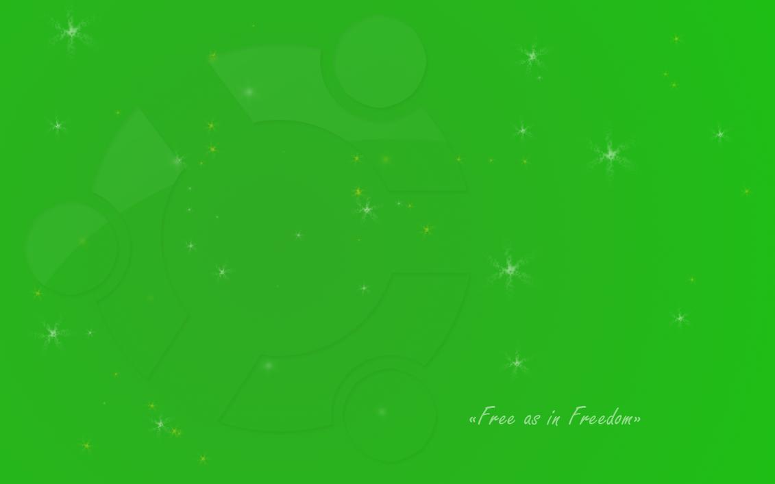 ubuntu wallpaper green by ghost typhon on deviantart
