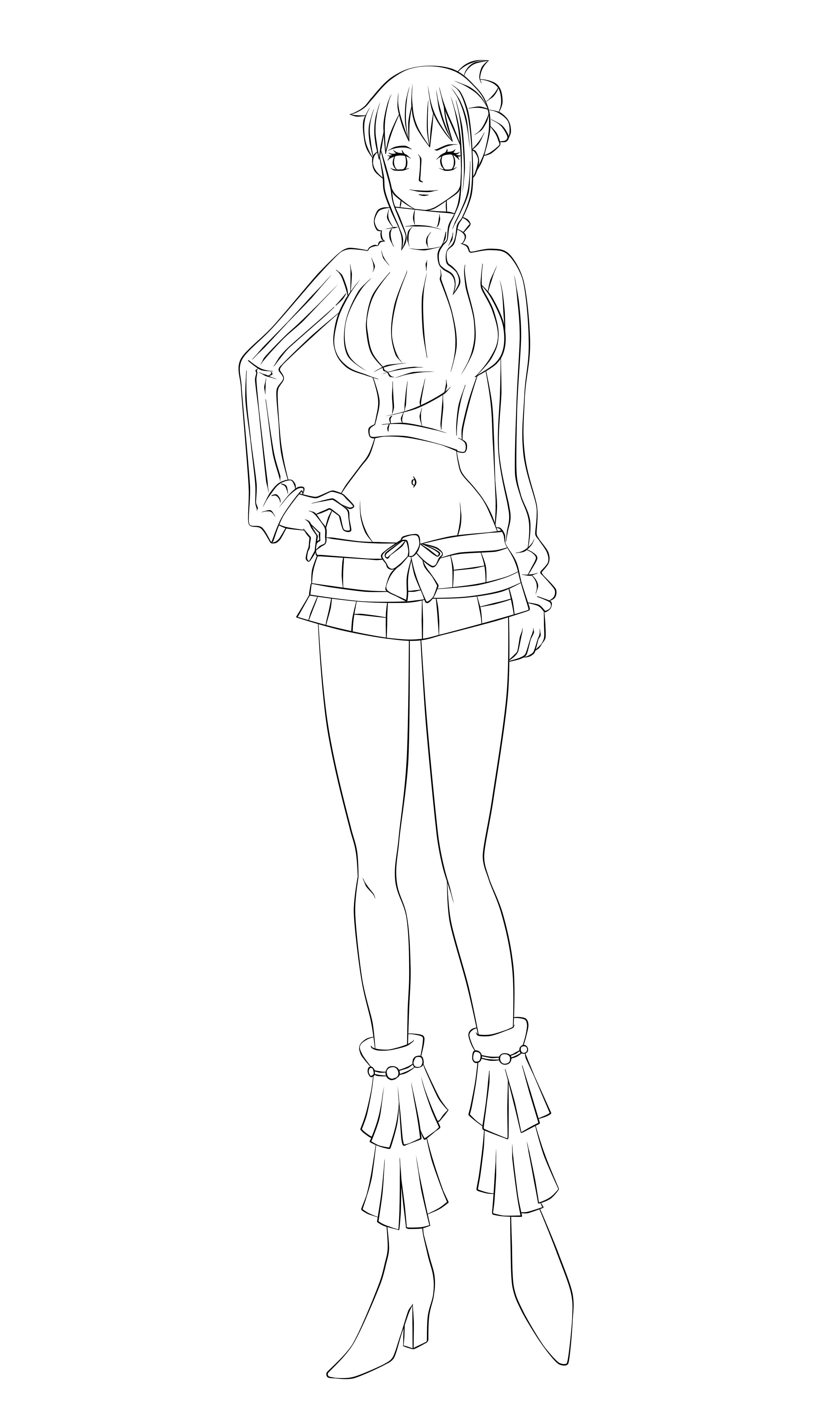 Nami Lineart : Nami lineart by caangamolineart on deviantart