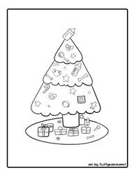 Bab Christmas Tree Coloring Page