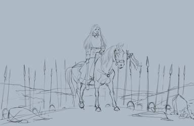 Princess (sketch) by SashaOtaku