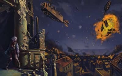 Night bombing by SashaOtaku