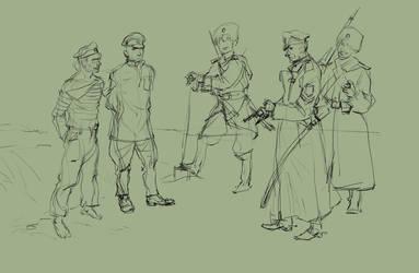 The shooting of Bolsheviks by SashaOtaku
