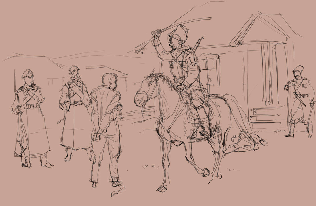 The beginning of 18 th year (sketch) by SashaOtaku