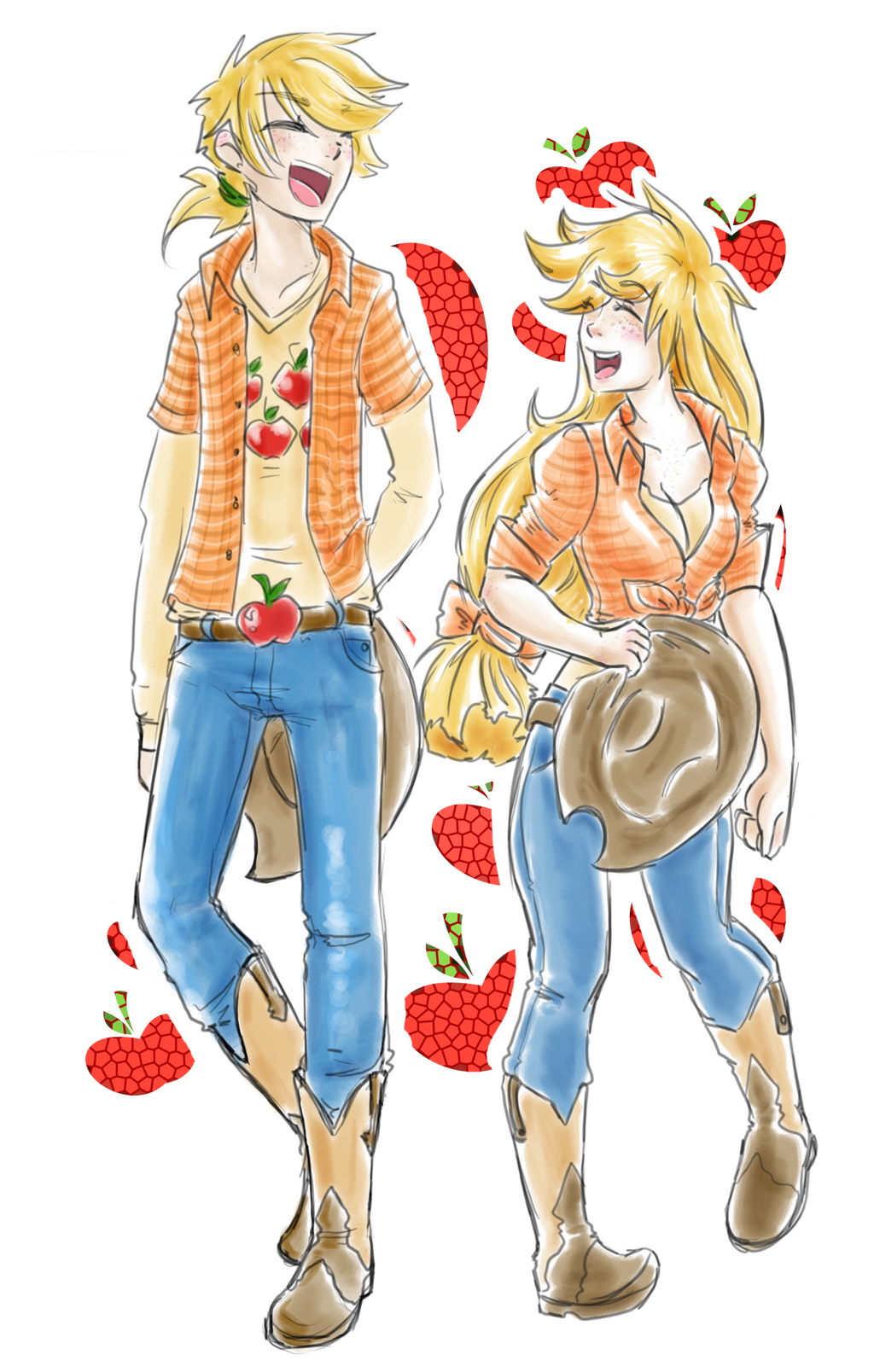 mlp human genderbender applejack by himram on deviantart