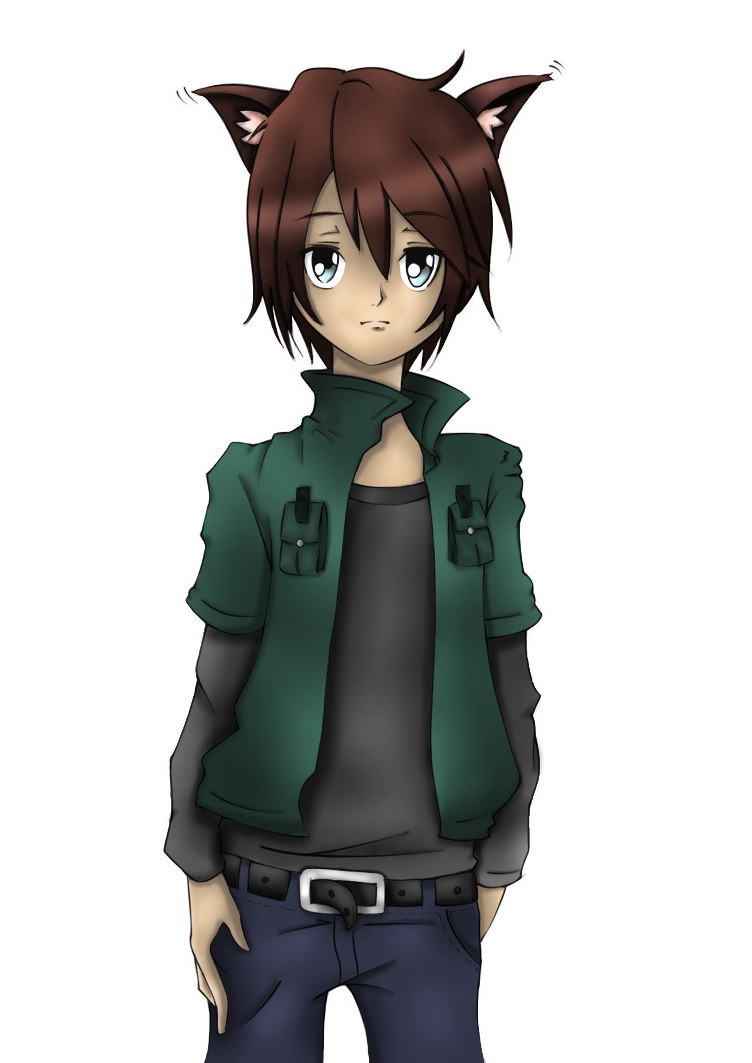 Wolf Boy Lineart (colored) By MomokaYue On DeviantArt