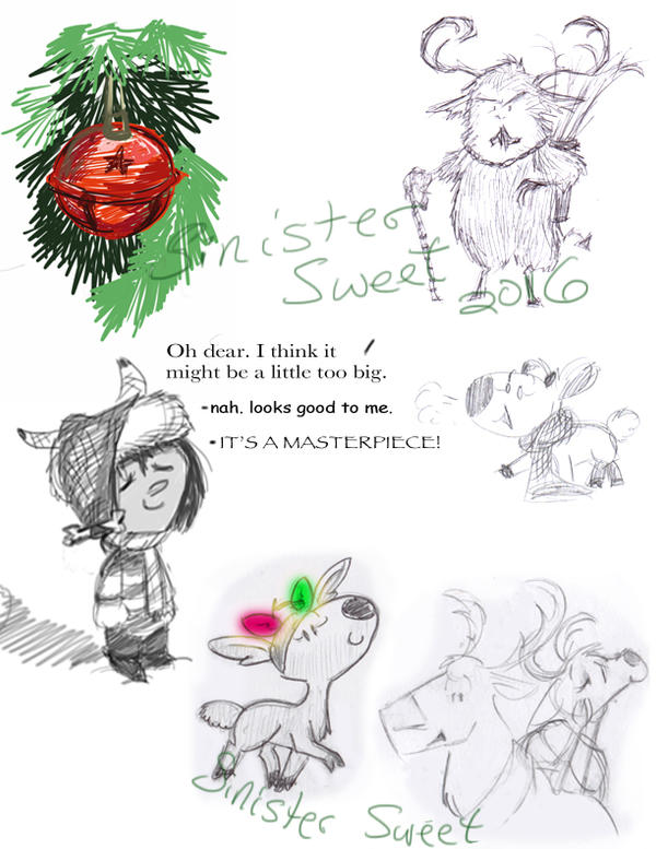 Christmas Sketches.Christmas Sketches By Sinister Sweet On Deviantart