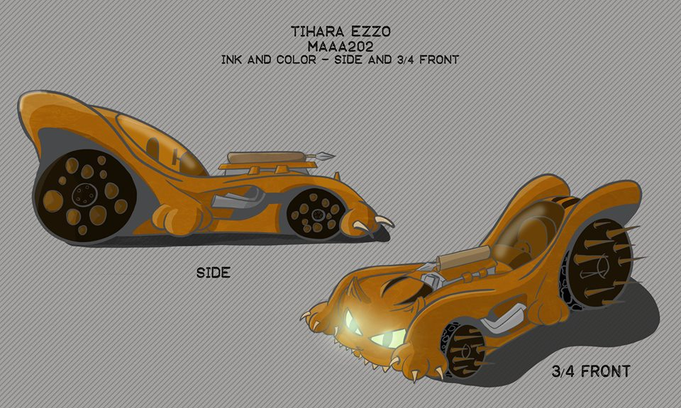 Mad Catz Car Design   Side and 3/4 by kamink