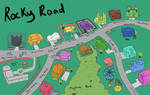 Growing Around Concept Art | Rocky Road Map