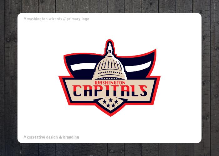 Washington Capitals Rebrand by chickenfish13