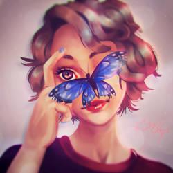 Butterfly Friend by revois