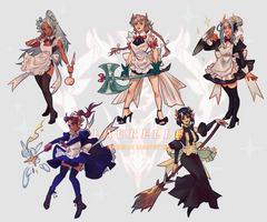 [CLOSED][Auction] Laurelle Maid Batch by breeveyten