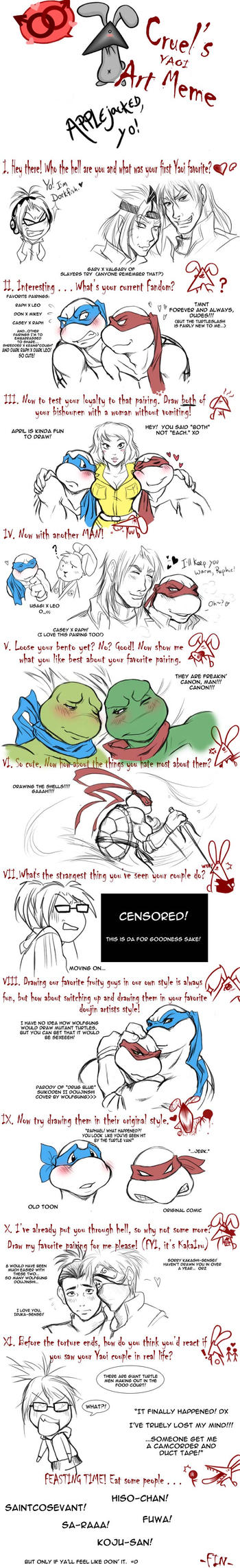 TMNT:  YAOI art meme by applejack