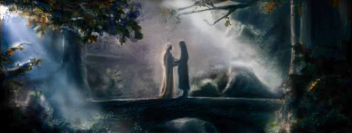 Aragorn and arwen by Artofjuhani