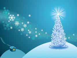 White Holiday Scene by lazunov