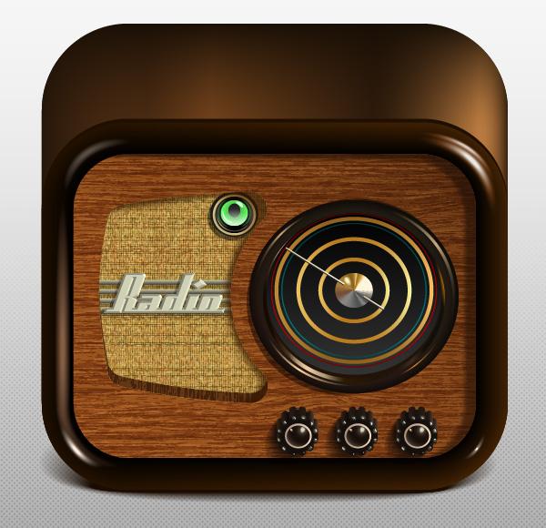 Radio App Icon by lazunov