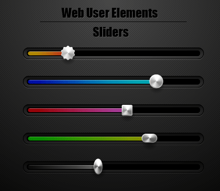 Web Interface Sliders by lazunov