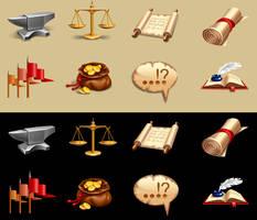 Free Vector - Fantasy Icons by lazunov