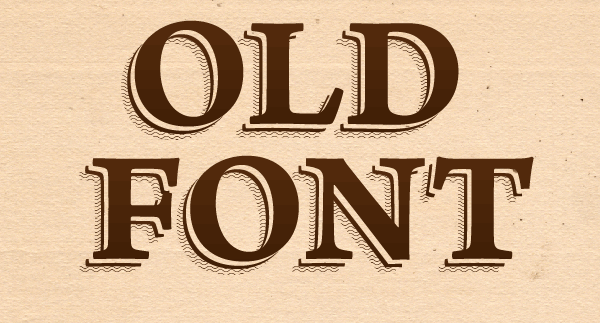 Old Font Text Effect by lazunov