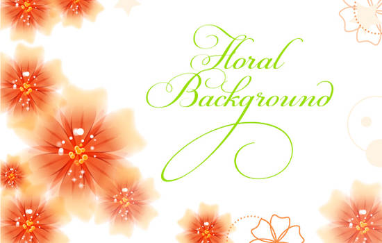 Vector Floral Background by lazunov