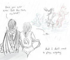 Rain is for peasants. by My-Sword-is-Bigger