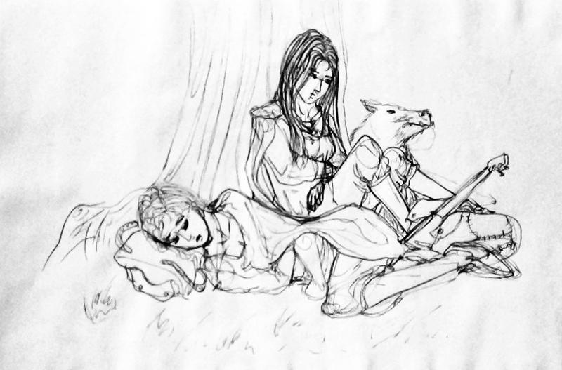 Pen Sketch - Poll Saga by My-Sword-is-Bigger