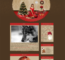 Christmas layout - 2012 with Taylor Swift by Sharah11