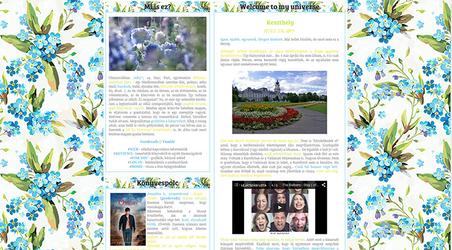 Blue flowerish blog layout by Sharah11