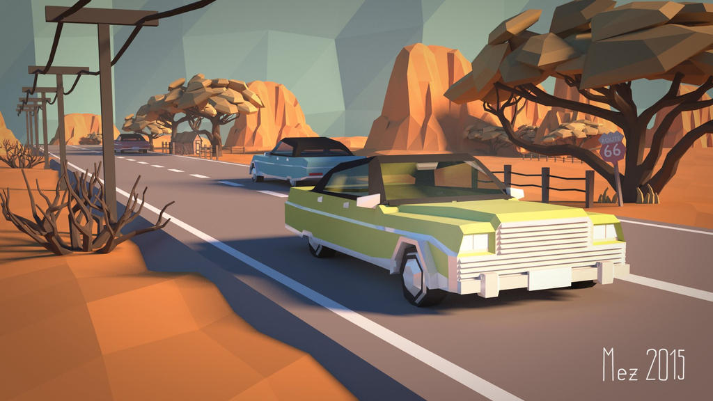 Route 66 [LowPoly]