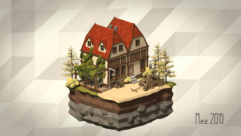 House 02 [Isometric][LowPoly]