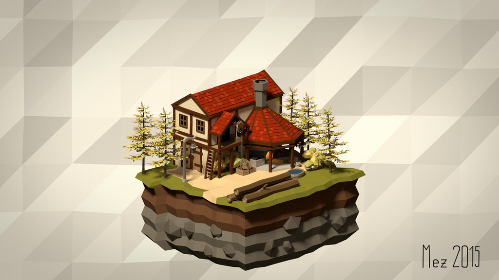 House 04 [Isometric][LowPoly]