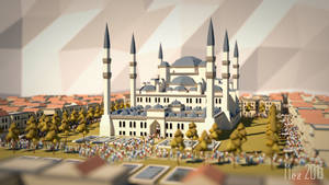 sultan ahmed mosque [LowPoly]