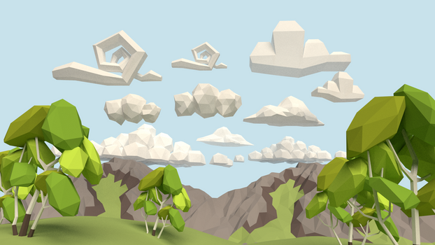Clouds [Lowpoly][Tutorial]