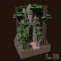 Temple [LowPoly] by Mezaka