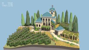italian villa [Lowpoly]