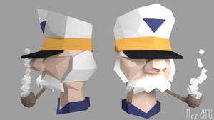Character study: Captain [Lowpoly]