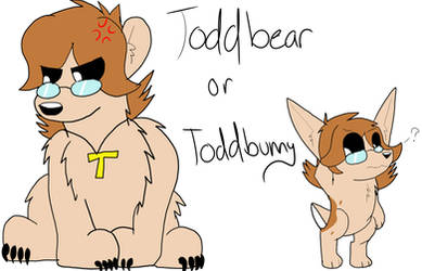 ToddBear Or ToddBunny (Eddpup and friends) by RubyPonyWolf22