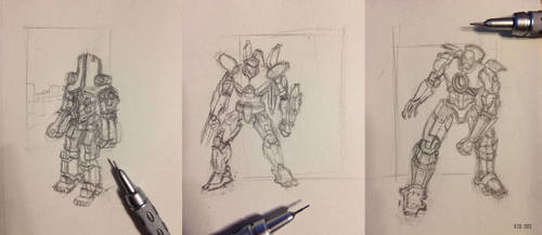 Tiny Jaeger sketches by HJD-GalaktikGraphiks