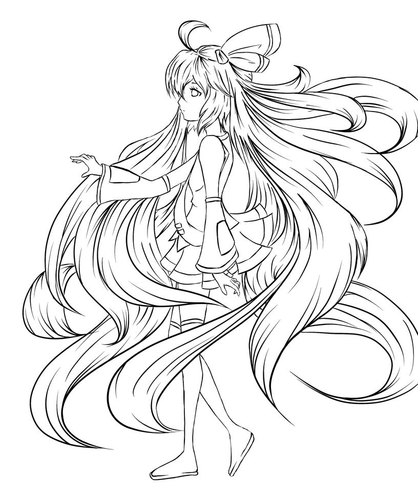 the gallery for vocaloid gumi coloring pages