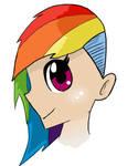 Attempted Human Rainbow dash